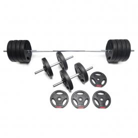 Body Power 57kg Tri-Grip Vinyl Weight Set