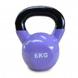 Body Power 6kg Vinyl Coated Kettlebell (x1)
