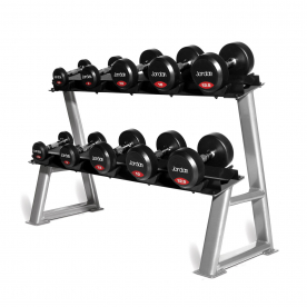 5 Pair 2 Tier Dumbbell Rack With Sad
