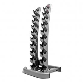 Jordan Fitness 10 pair Vertical Dumbbell Rack 1-10kg (Oval frame)