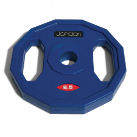 Jordan Fitness 2.5kg Classic Rubber Studio Barbell Disc (x1) Blue