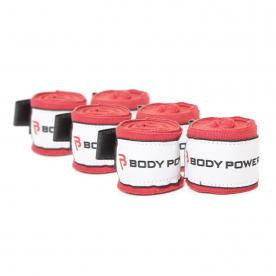 Body Power 270cm Nylon Handwrap (Pack of 3 Red)