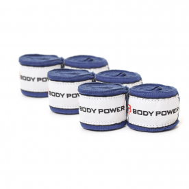 Body Power 270cm Nylon Handwrap (Pack of 3 Blue)