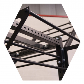 Body-Solid Double Pull Up Attachment - (Fits Body-Solid Hex Rigs)