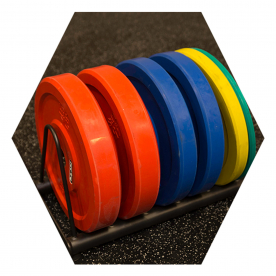 Body-Solid Horizontal Weight Plate Storage -(Fits Body-Solid Hex Rigs)