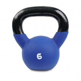 Body Power 6kg Neoprene Covered Kettlebell (Blue)