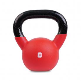 Body Power 8kg Neoprene Covered Kettlebell (Red)