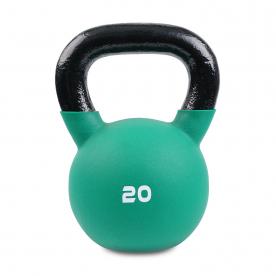 Body Power 20kg Neoprene Covered Kettlebell (Green)
