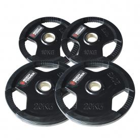 Body Power 60kg Rubber Encased Tri Grip Olympic Disc Kit