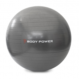 Body Power 55cm Gym Ball With Pump (300Kg Burst Resistant) Grey