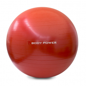 Body Power 65cm Gym Ball With Pump (300Kg Burst Resistant) Red