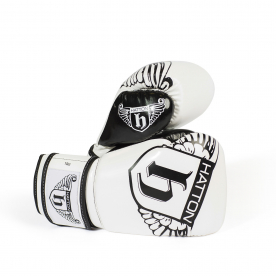 Hatton White 8oz PU CoolFlow Fitness Gloves (Pair)
