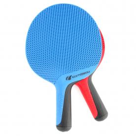 Cornilleau Softbat Eco Design Outdoor Quattro Table Tennis Pack (Blue/Red)