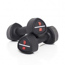 Body Power 2Kg Studio Rubber Dumbbells (x2)