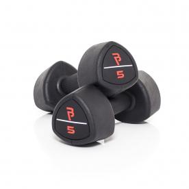 Body Power 5Kg Studio Rubber Dumbbells (x2)