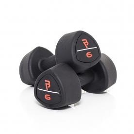 Body Power 6Kg Studio Rubber Dumbbells (x2)