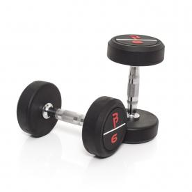 Body Power 6Kg Pro Rubber Dumbbells (x2)