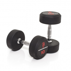 Body Power 10Kg Pro Rubber Dumbells (x2)