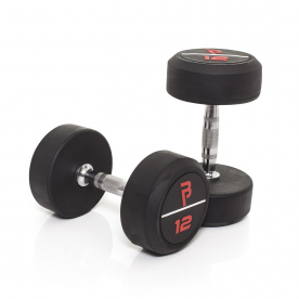 Body Power 12Kg Pro Rubber Dumbbells (x2)
