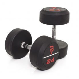 Body Power 24Kg Pro Rubber Dumbbells (x2)