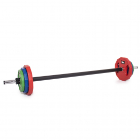 Body Power 20Kg Classic Rubber Studio Barbell Set