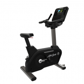 Life Fitness Club Series+ Upright Bike with DX Console (Titanium)