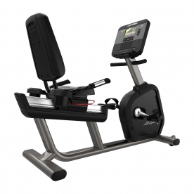 Life Fitness Club Series + Recumbent Lifecycle Exercise Bike with DX Console (Titanium)