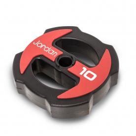 Jordan Fitness 10kg Ignite V2 Urethane Studio Disc - RED/BLACK x 2