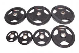 Body Power 75Kg Rubber Encased Tri Grip Olympic Disc Set