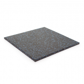 Body Power 15mm Floor Tile 500mm x 500mm x1 - Black with Blue Speckle