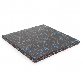 Body Power 30mm Floor Tile 500mm x 500mm (x1) - Black with Blue Speckle