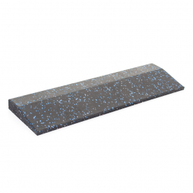 Body Power 30mm Floor Tile Ramp Edge x1 (500mm length) - Black with Blue Speckle