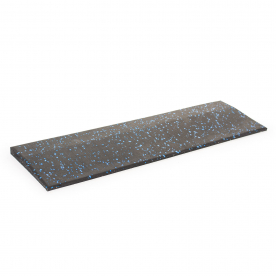 Body Power 15mm Floor Tile Ramp Edge x1 - Black with Blue Speckle