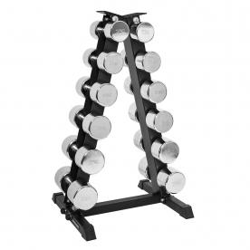 Body Power 12.5-25Kg Ergo Chrome Dumbbells & Rack