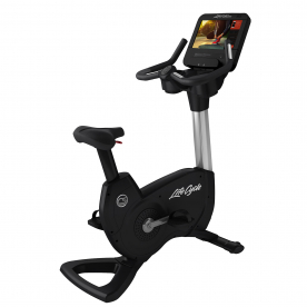 Life Fitness Platinum Club Series Upright Bike Discover SE3HD Console (Artic Silver)