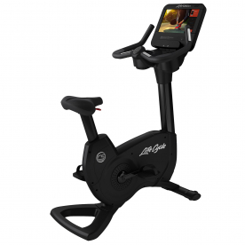 Life Fitness Platinum Club Series Upright Bike Discover SE3HD Console (Black Onyx)