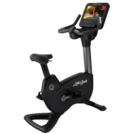 Life Fitness Platinum Club Series Upright Bike Discover SE3HD Console (Titanium Storm)