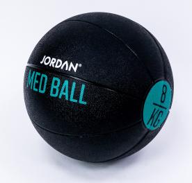 Jordan Fitness 8kg Medicine Ball - Black/Green