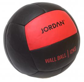 Jordan Fitness 12kg Wall Ball - Oversize Medicine Ball (red)