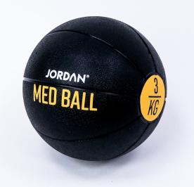 Jordan Fitness 3kg Medicine Ball - Black/Yellow
