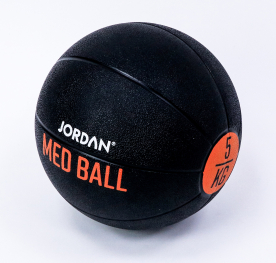 Jordan Fitness 5kg Medicine Ball - Black/Orange