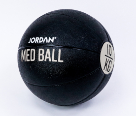 Jordan Fitness 10kg Medicine Ball - Black/Grey