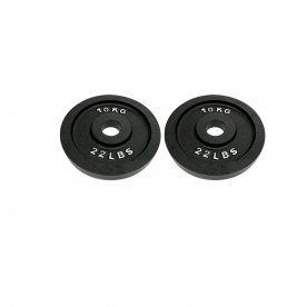 Body Power 10Kg Machined Cast Iron Olympic Weight Plates (x2)