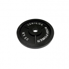 Body Power 15Kg Machined Cast Iron Olympic Weight Plates (x2)