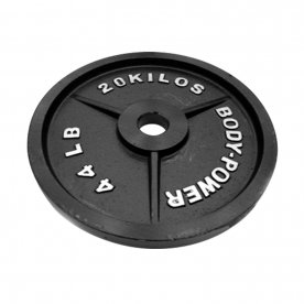Body Power 20Kg Machined Cast Iron Olympic Weight Plates (x2)