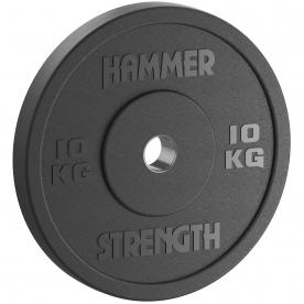 10Kg Standard Rubber Bumper Plate (Bla