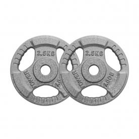 Body Power 2.5Kg Standard Tri Grip Weight Plates (x2)