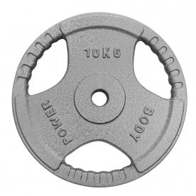 Body Power 10Kg Standard Tri Grip Weight Plates (x2)