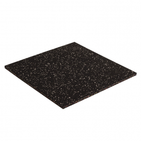 Body Power 15mm Floor Tile 500mm x 500mm x1 - Black with White Speckle