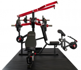 Body Power Multi-Station Leverage Gym with 125Kg Rubber Olympic Tri-Grip Disc Set